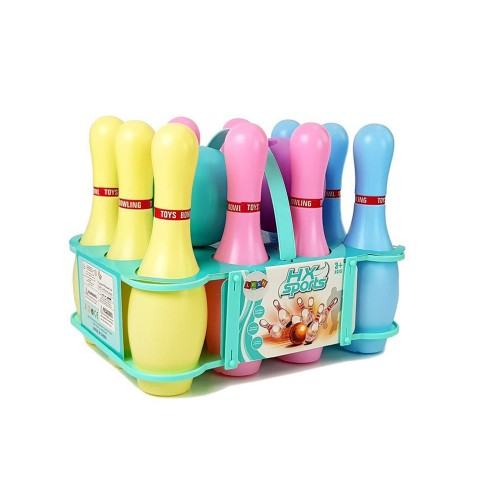 CLOE Jeu de bowling enfant 10 quilles lumineuses 2 boules avec panier
