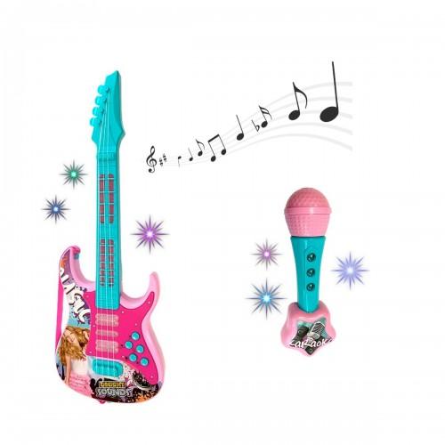 SOUNDS Set guitare et micro pour karaoké son et lumière