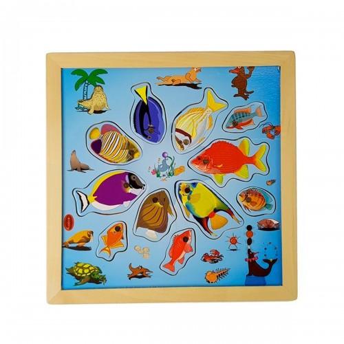 ANTO Puzzle plateau  pêche à la ligne magnétique