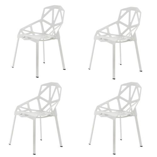 MONA Lot de 4 chaises