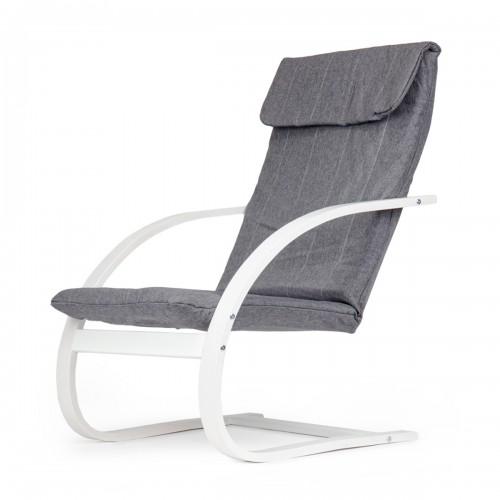 BOO Rocking chair blanc et gris