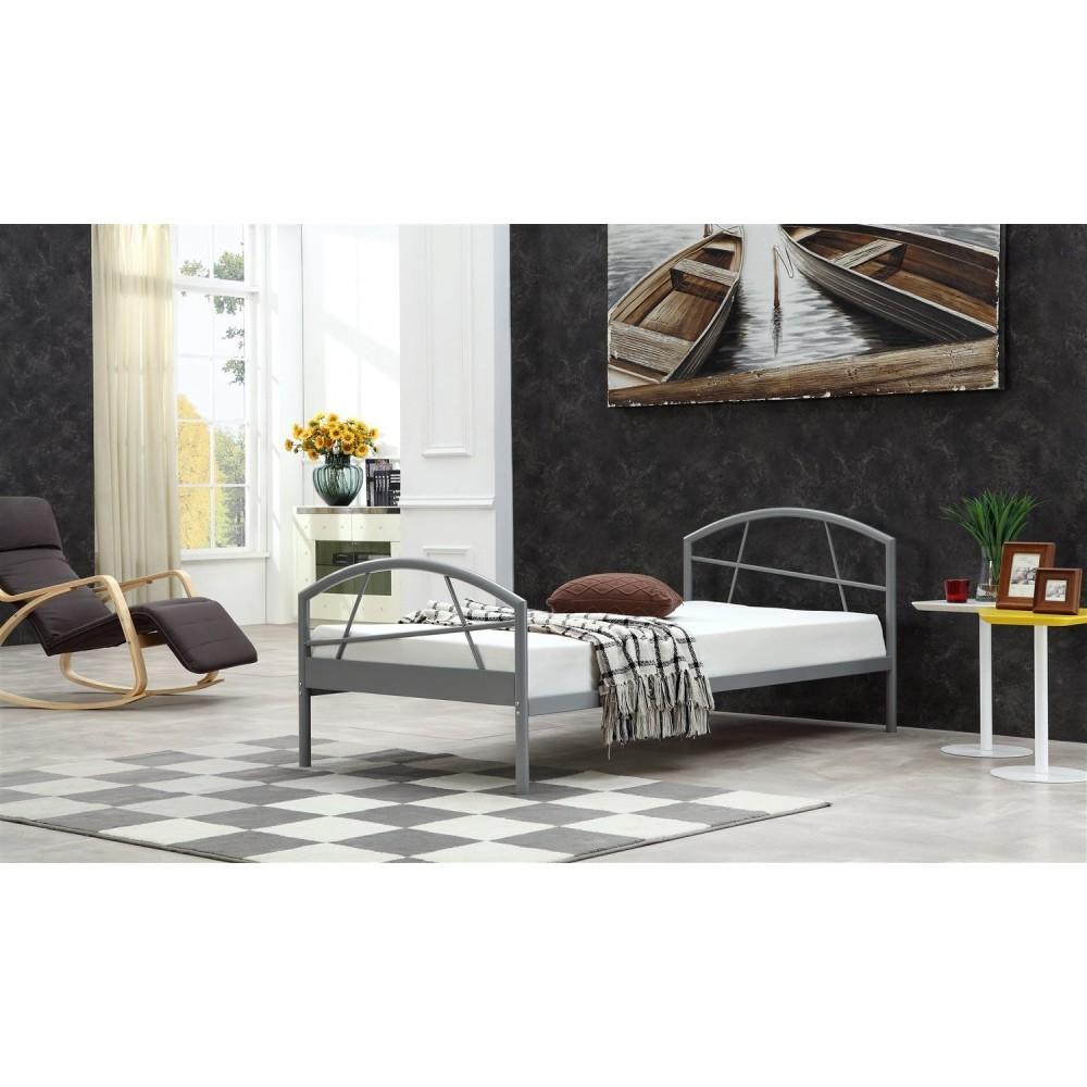 cadre de lit susi design avec sommier m tallique. Black Bedroom Furniture Sets. Home Design Ideas