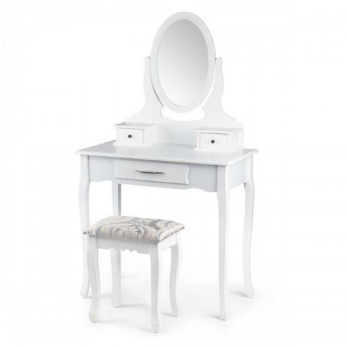 AMEL Coiffeuse cosmétique miroir + tabouret/table de maquillage