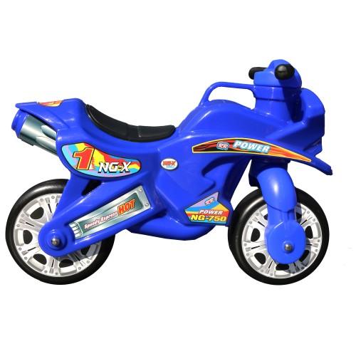 Porteur moto couse bleu