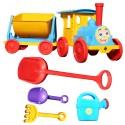 PLAYA Train pour enfant jeux de plage bac à sable kit 6 pièces