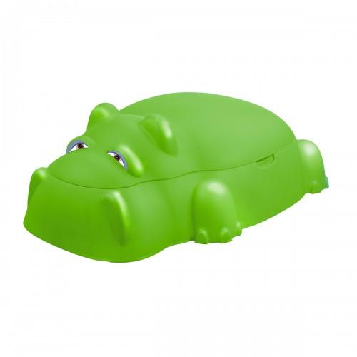 HIPPO Bac à sable hippopotame vert