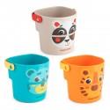 HELLO Jeux de bain 3 gobelets animaux plastique sans BPA