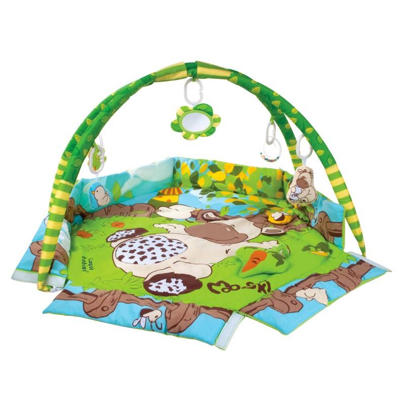 FARMA Tapis d'éveil avec fonction parc éducatif avec 5 jeux détachables