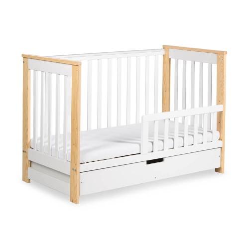 IWO Lit bébé enfant évolutif en bois avec tiroir