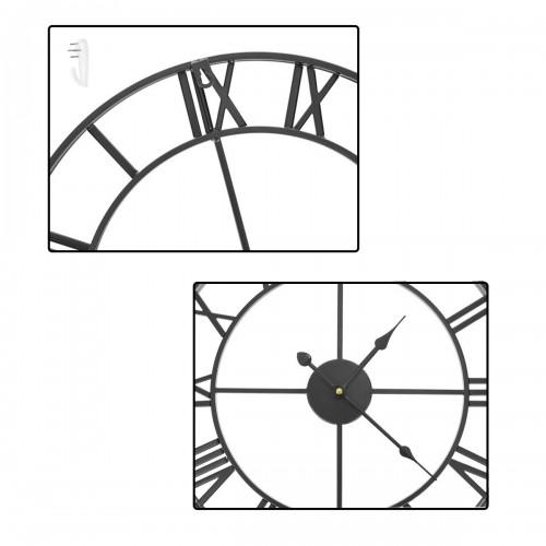 Horloge noir métal chiffres romains