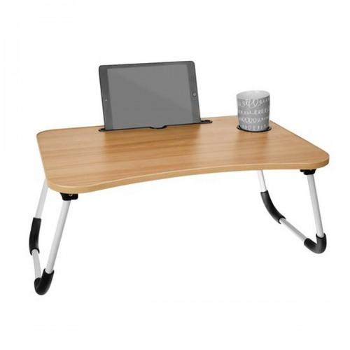 MESA Table de lit pliante multifonction bureau ordinateur et plateau repas  avec porte-gobelet