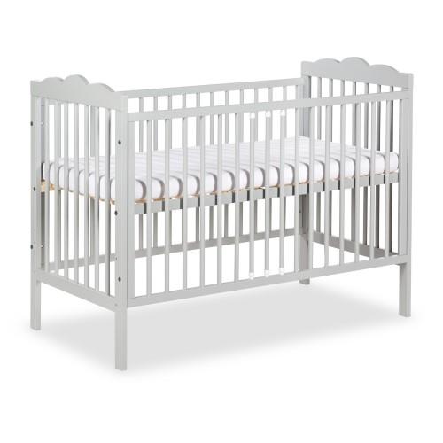 RADEK III Lit bébé à barreaux gris