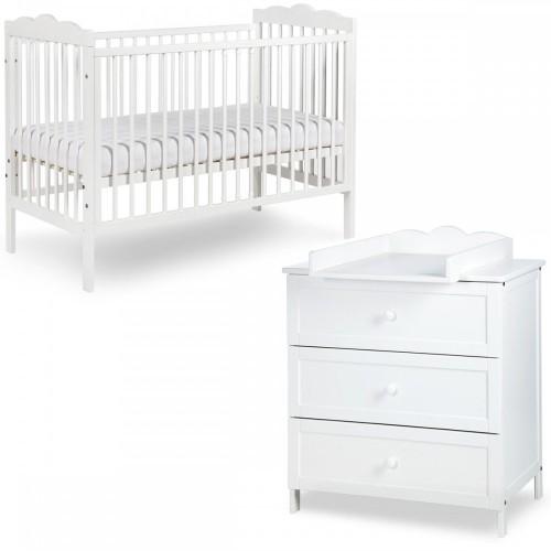 RADEK III Chambre bébé commode à langer et lit en bois