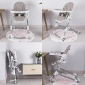 HUGO Chaise haute inclinable et pliable avec roulettes et arche de jeu