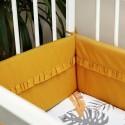 Tour de lit jaune en coton