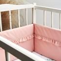 Tour de lit rose en coton