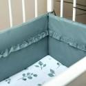 Tour de lit vert en coton