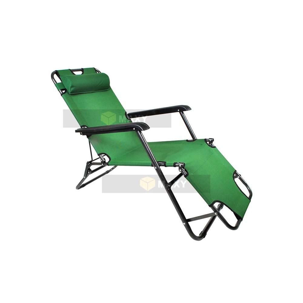 Chaise longue transat pliable 3 position for Chaises longues transat