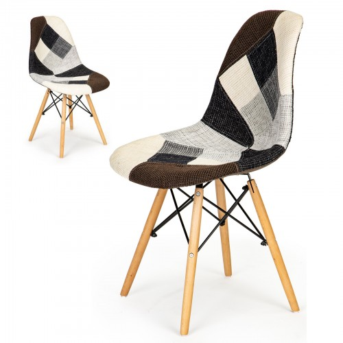 LISA chaises patchwork grise