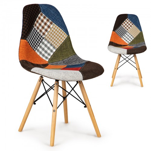 LISA chaises patchwork rouge