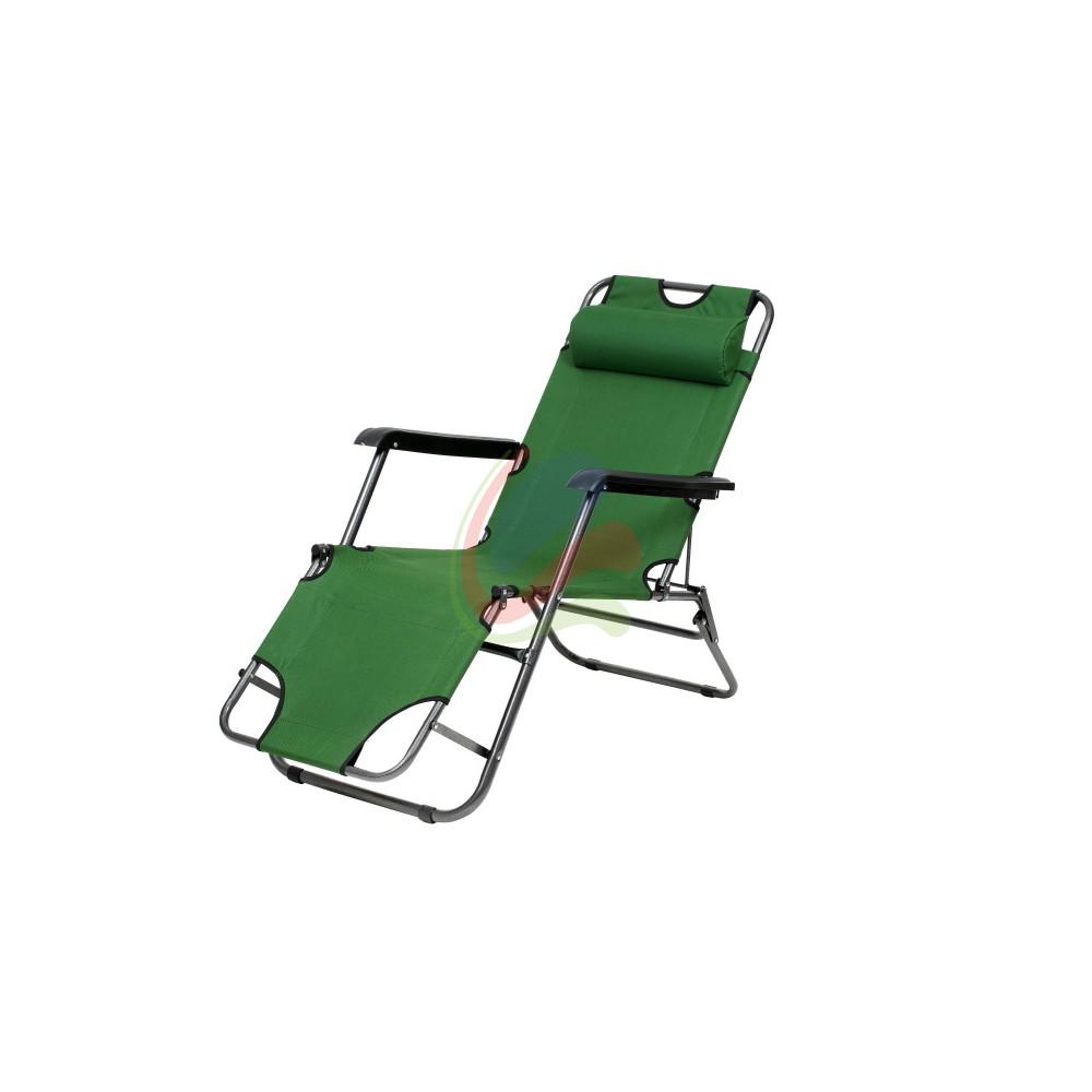 Chaise longue transat pliable 3 position for Mobilier jardin chaise longue