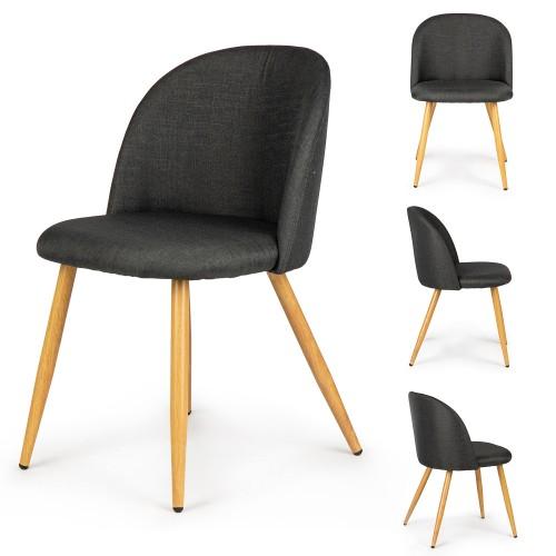 chaises tissu gris style nordique