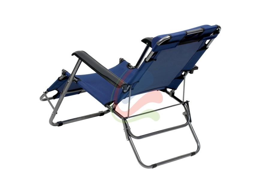 Transat chaise longue jardin plage 3 positions ebay for Fauteuil transat jardin