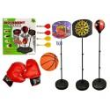 BLOC Ensemble jeux de sport pack 3 en 1 basket-ball fléchettes boxe