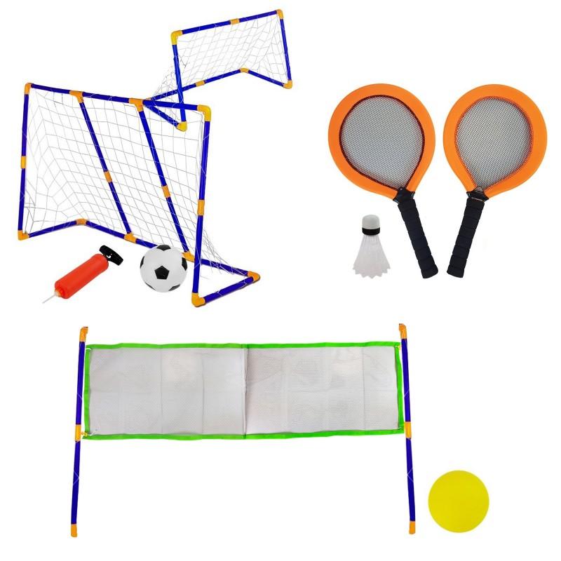 DEPORTE Set multisport jeu enfants 3 en 1 badminton volley football