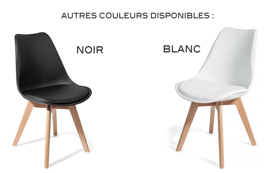 4 chaises brekka design contemporain nordique scandinave super qualit acha - Chaise noir et blanche ...