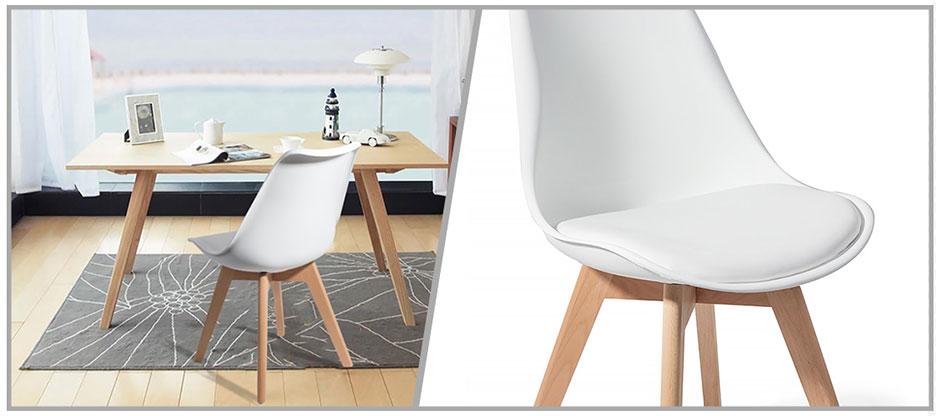 4 chaises brekka design contemporain nordique scandinave. Black Bedroom Furniture Sets. Home Design Ideas
