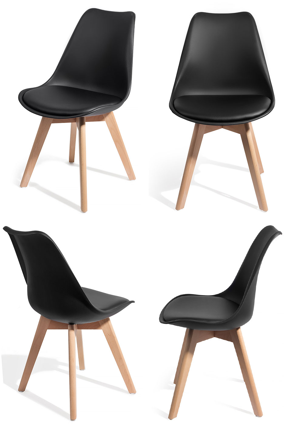 homekraft 4 chaises brekka design style scandinave top