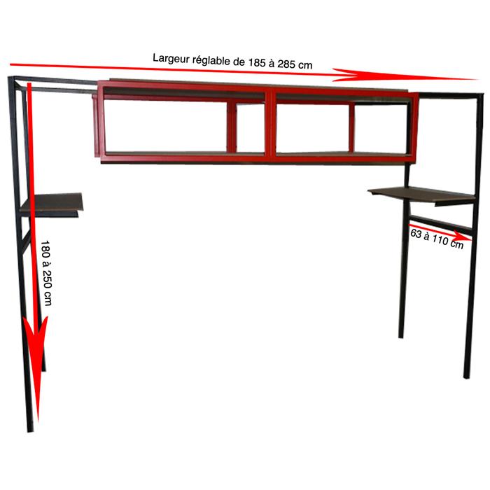 clean box rangement efficace pour garage avec 6 tag res vente de monmobilierdesign conforama. Black Bedroom Furniture Sets. Home Design Ideas