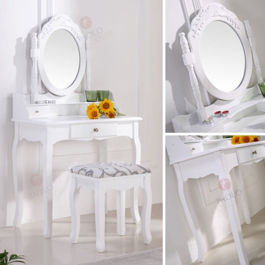 Magnifique coiffeuse table de maquillage blanc vente de - Table de maquillage conforama ...