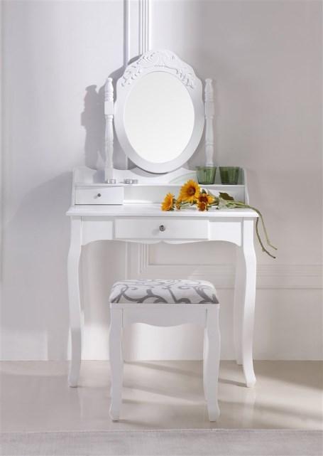 acheter magnifique coiffeuse table de maquillage blanc pas cher. Black Bedroom Furniture Sets. Home Design Ideas