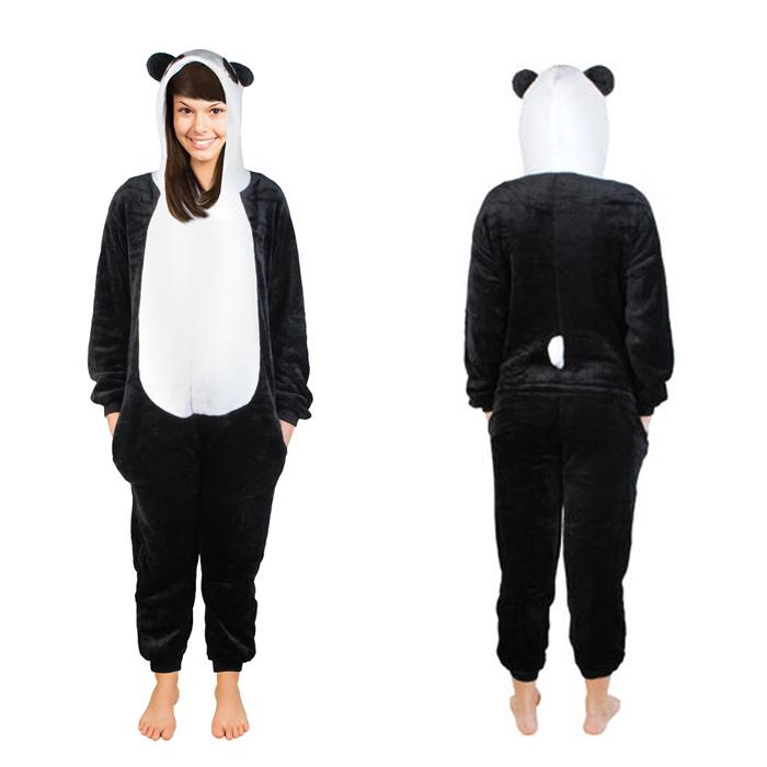 acheter populaire plus gros rabais plus de photos Déguisement de panda, pyjama pour adulte en tailles S, M et XL