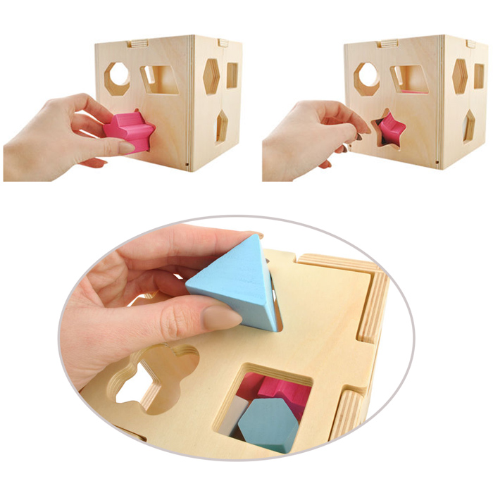 Cube bois détails