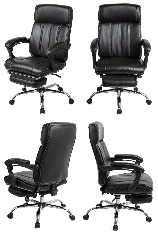 fauteuil de bureau boss pivotant inclinable repose pieds noir conforama. Black Bedroom Furniture Sets. Home Design Ideas