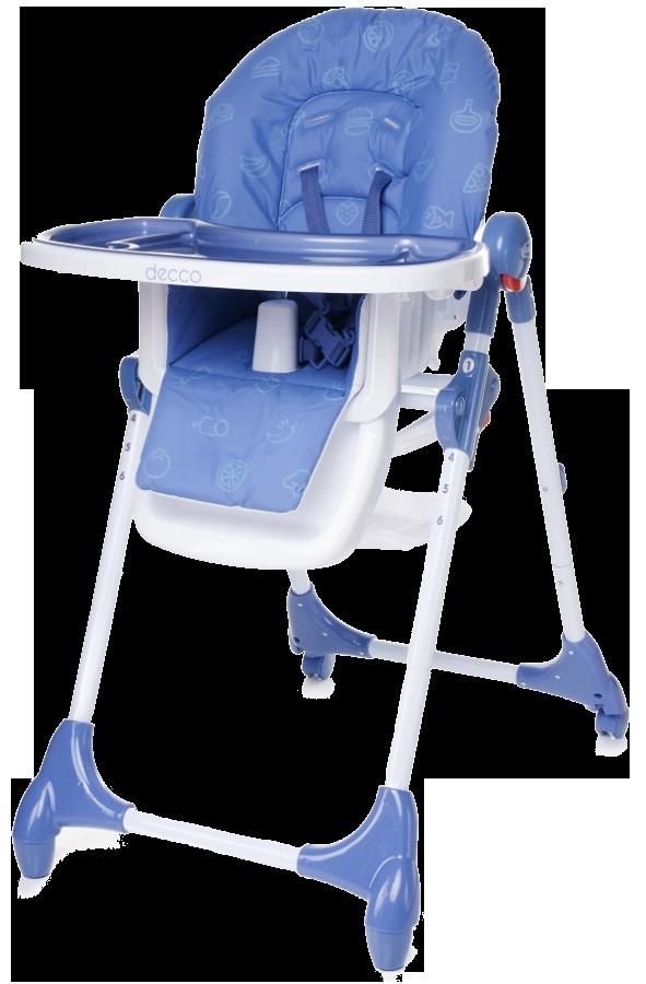 acheter decco chaise haute b b hauteur r glable pliable 4baby bleu pas cher. Black Bedroom Furniture Sets. Home Design Ideas