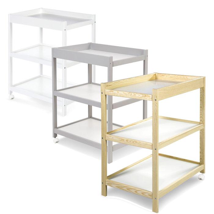 Table à langer étagères