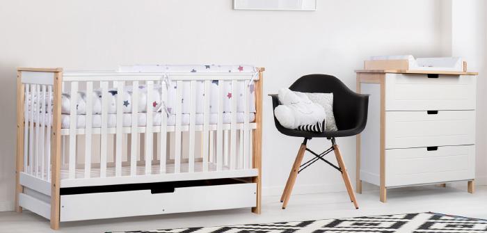Chambre nordique bébé
