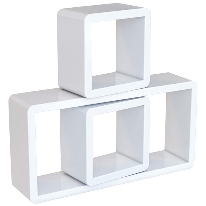 etag res murales lot de 3 rangements cubiques rectangulaires blanc vente de monmobilierdesign. Black Bedroom Furniture Sets. Home Design Ideas