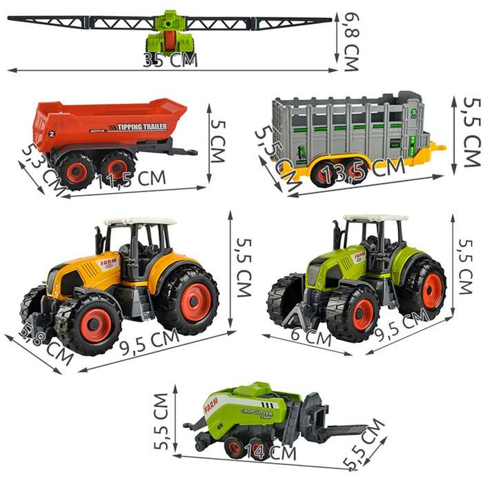 Coffret tracteurs remorques enfants