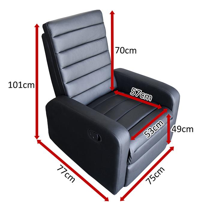 Dimensions du fauteuil Relax