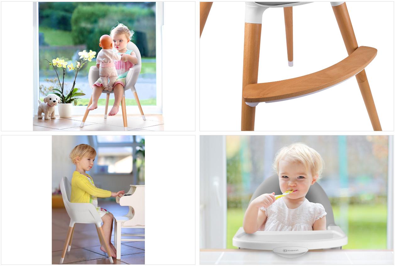 fini chaise haute 2en1 b b et enfant scandinave style. Black Bedroom Furniture Sets. Home Design Ideas