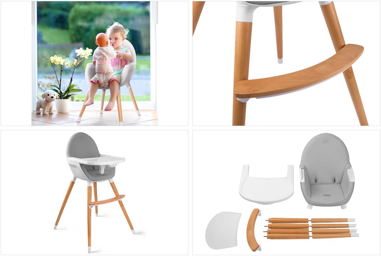 fini chaise haute 2en1 b b et enfant scandinave style nordic blanc blanc achat vente chaise. Black Bedroom Furniture Sets. Home Design Ideas