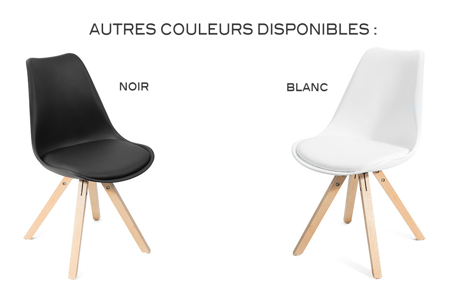 Fjone blanc lot de 4 chaises design contemporain nordique for Chaise promo super u