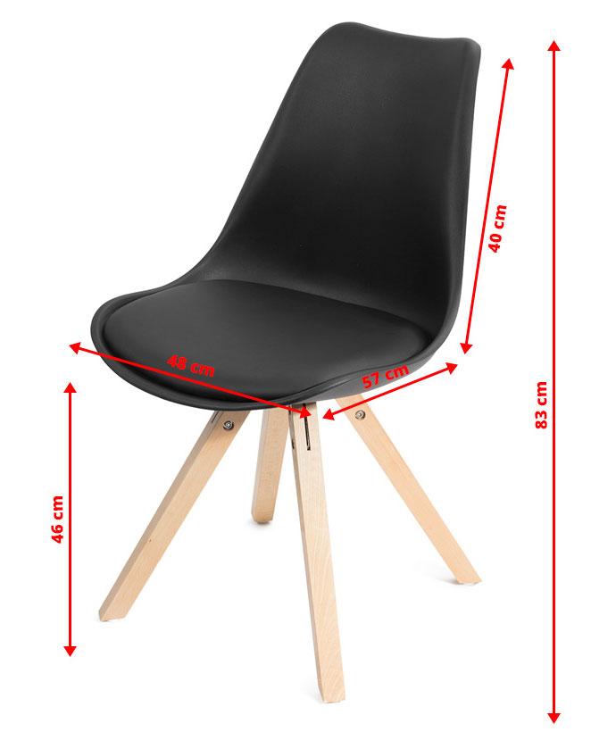 simple couleur blanc ou noir with lot de 4 chaises blanches. Black Bedroom Furniture Sets. Home Design Ideas