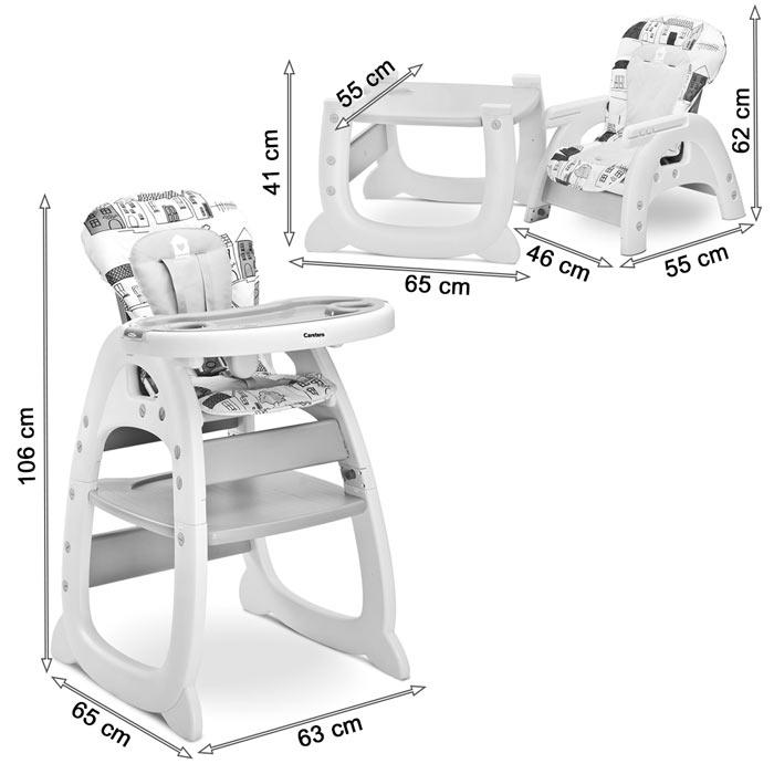 Chaise haute convertible bureau + chaise