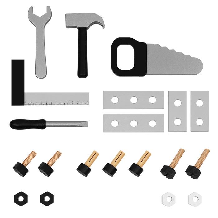 Détail des petits outils pour enfant